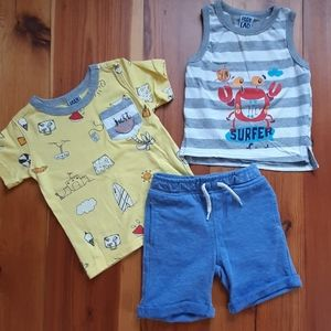 Boys 3 Piece Summer Outfit